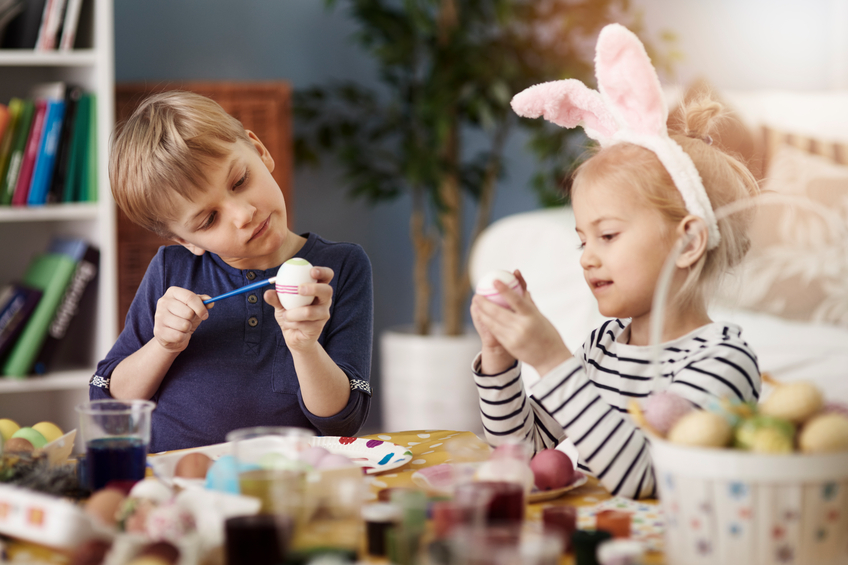 Painting eggs before the Easter is a tradition